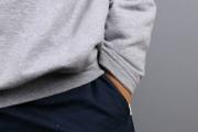 Detail des Saumbündchens des selbstgenähten Sweaters. JanaKnöpfchen - Nähen für Jungs