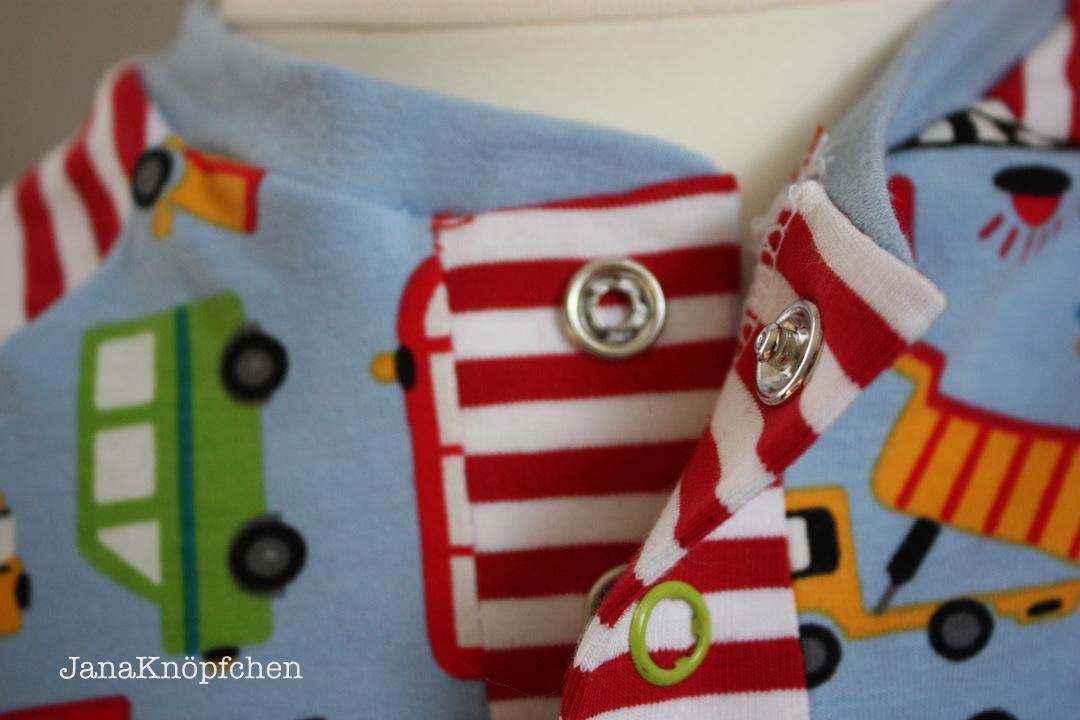 Baggershirt Knopfleiste auf JanaKnöpfchen Nähen für Jungs