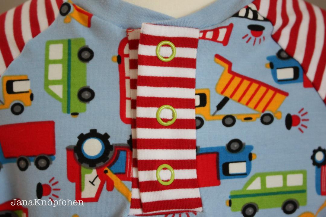 Baggershirt Knopfleiste zu JanaKnöpfchen Nähen für Jungs