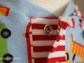 Baggershirt Knopfleislte halb auf JanaKnöpfchen Nähen für Jungs