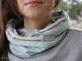 Wickelkapuze Detail mit Ösen an selbstgenähten Hoodie für Frauen. JanaKnöpfchen - Nähen für Jungs