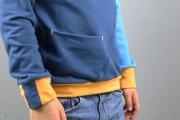 Taschendetail des selbstgenähten Freestyle Hoodies für Jungs. Schnittmuster von Pattydoo. JanaKnöpfchen - Nähen für Jungs