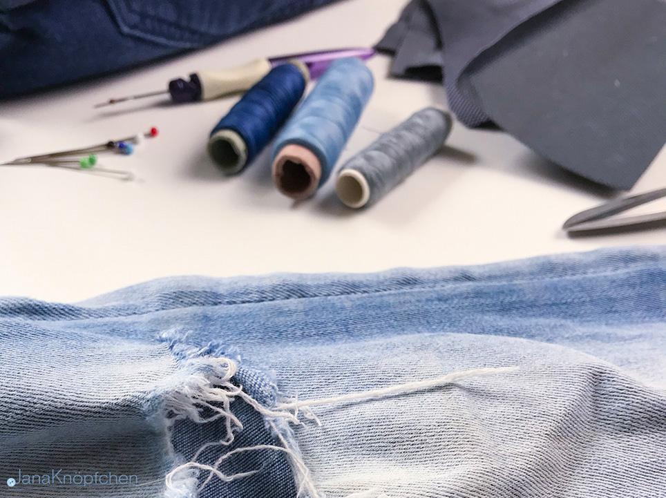 Tutorial Jeans flicken. Jahresrückblick 2018. JanaKnöpfchen - Nähen für Jungs