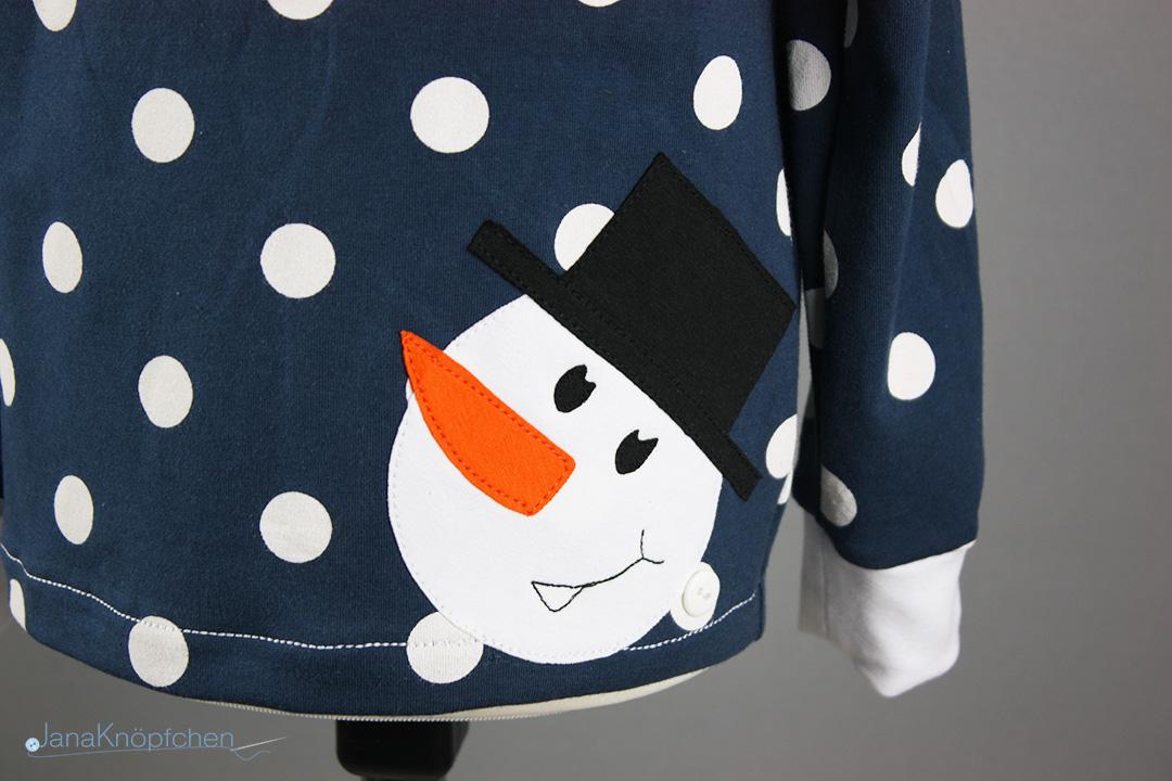 Shirt mit Schneemannapplikation nähen. Jahresrückblick 2018. JanaKnöpfchen - Nähen für Jungs