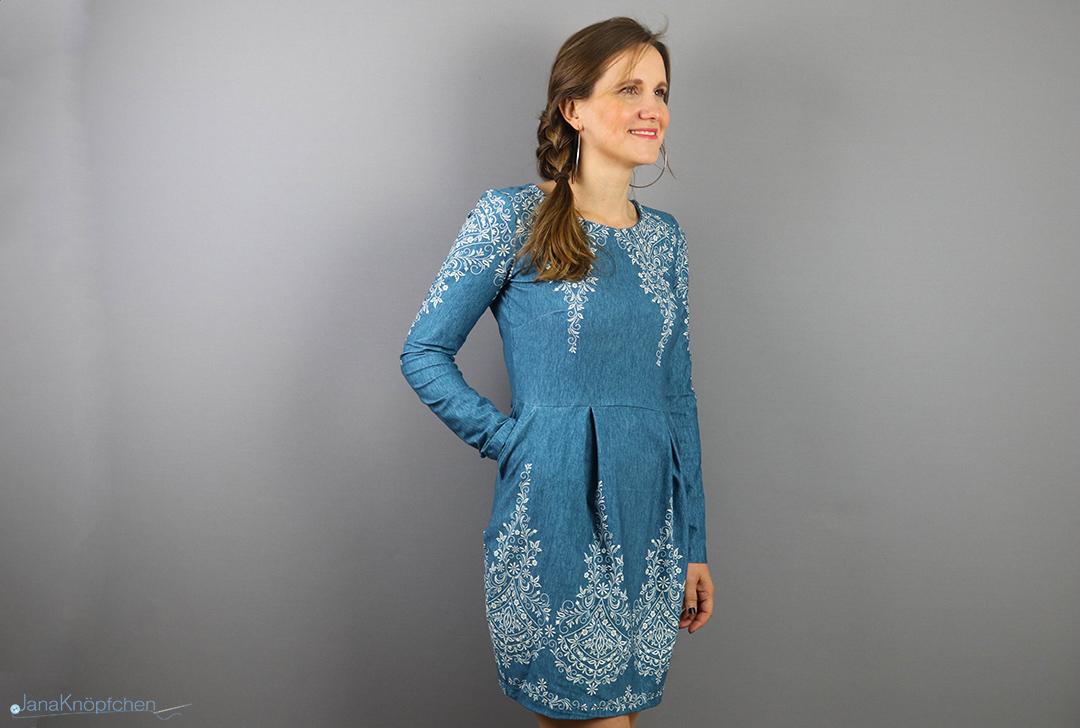 Selbstgenähtes Kleid Chloe in Jeansoptik. Jahresrückblick 2019 - JanaKnöpfchen. Nähen für Jungs