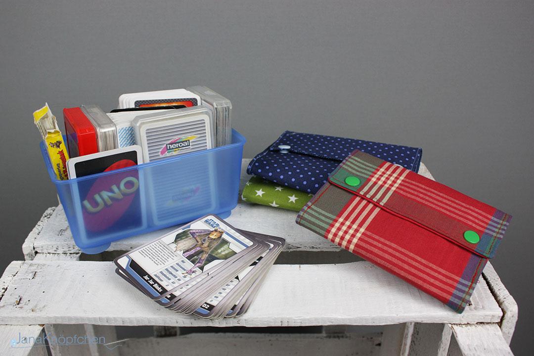 Kartentäschle nähen für Spielkarten und Ordnung Spiegelschrank. JanaKnöpfchen - Nähen für Jungs