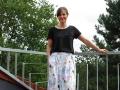 Kellerfaltenrock nähen für Frauen. JanaKnöpfchen - nähen für jungs. Nähblog