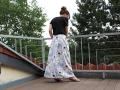 selbstgenähter Kellerfaltenrock für Frauen.JanaKnöpfchen - nähen für jungs. Nähblog