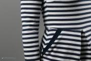 Tasche am Kleid Chloe mit Bündchen versäubert. JanaKnöpfchen - Nähen für Jungs