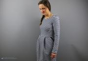 Kleid Chloe mit Tulpenrock aus gestreiftem Sweat nähen. JanaKnöpfchen - Nähen für Jungs