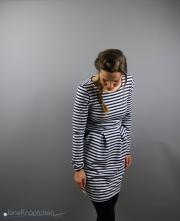 Gestreiftes Sweatkleid Chloe nähen für Frauen. JanaKnöpfchen - Nähen für Jungs