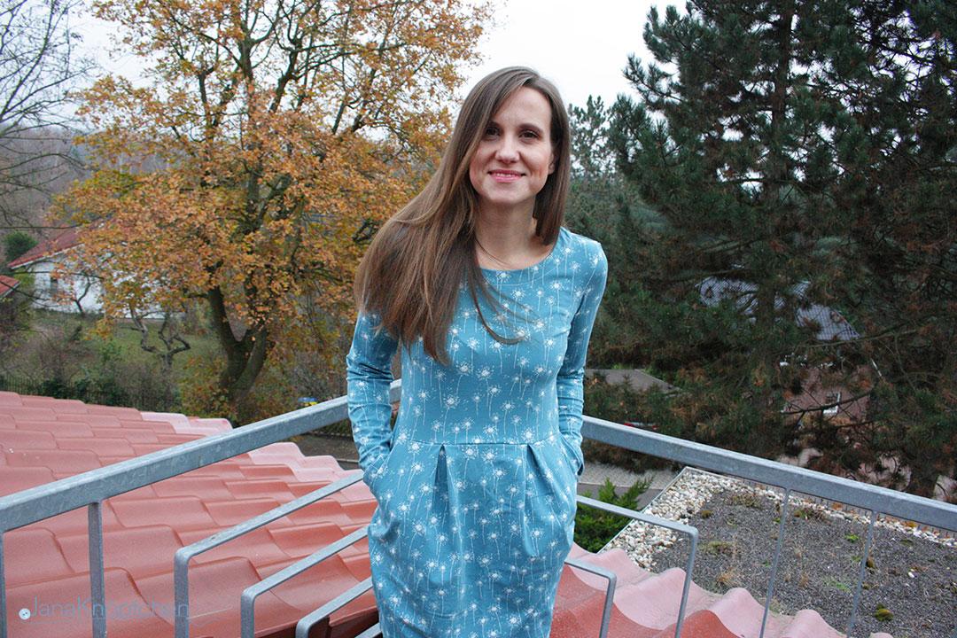 Kleid Chloe nähen als Herbstkleid aus Jersey. JanaKnöpfchen - Nähen für Jungs