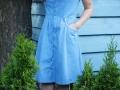 Baumwolle Kleid mit Tasche genäht. JanaKnöpfchen - Nähen für Jungs