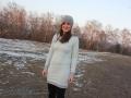 Kuschliges Kleid selbstgenähtes Wilma von LimeNox für den Winter. JanaKnöpfchen - Nähblog