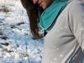 Kragen vom Hoodie selbstgenäht. 12colorsofhandmadefashion Farbe Grün. JanaKnöpfchen - Nähblog