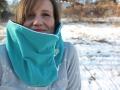 Kragenhoodie für Frauen nähen. Teilnahme an 12colorsofhandmadefashion Farbe Grün. JanaKnöpfchen - Nähblog