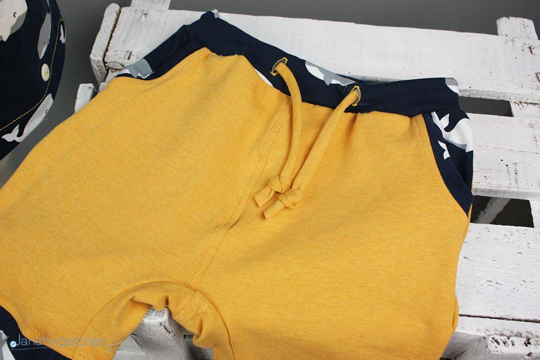 Kurze Hose für den selbstgenähten Schlafanzug für Jungs. JanaKnöpfchen - Nähen für Jungs
