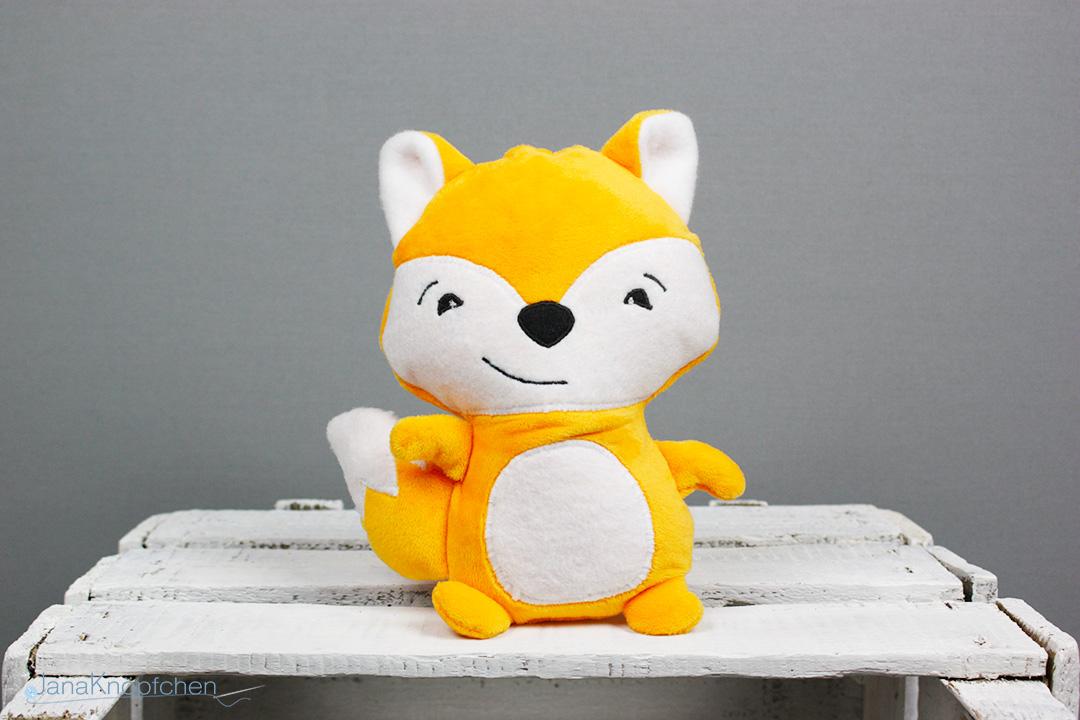 Kuscheltier Fuchs nähen. Fuchs Fred. JanaKnöpfchen - Nähen für Jungs