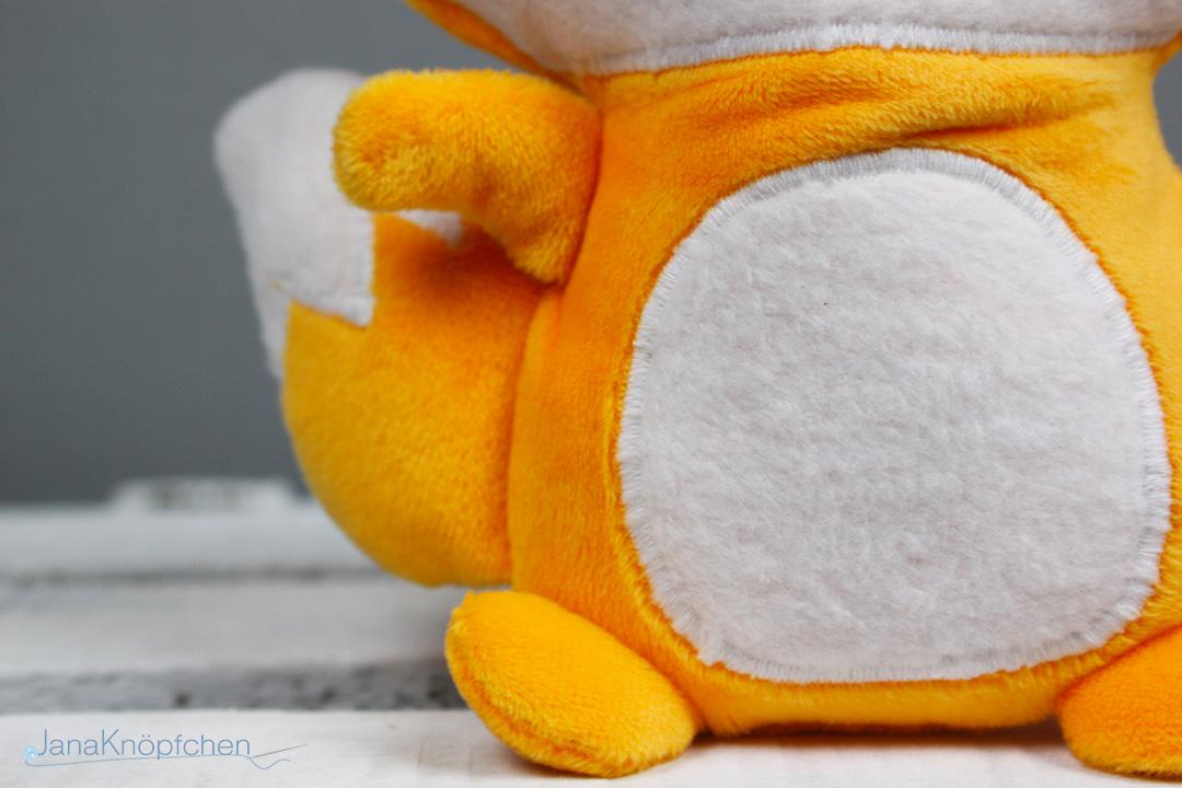 Kuscheltier Fuchs Fred selbstgenäht. JanaKnöpfchen - Nähen für Jungs