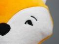 Fuchs Kuscheltier selbstgenäht mit besticktem Gesicht. JanaKnöpfchen - Nähen für Jungs
