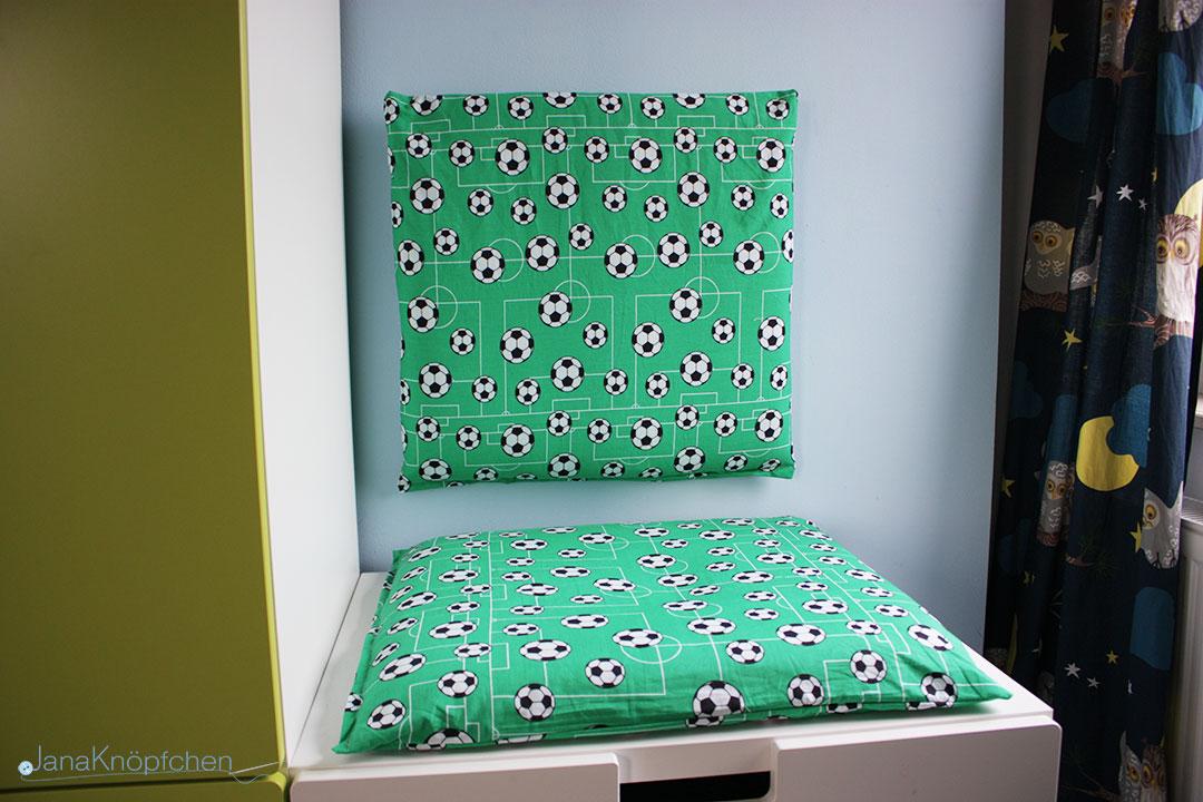 DIY Leseecke mit Kissen für Jungskinderzimmer. JanaKnöpfchen - Nähen für Jungs