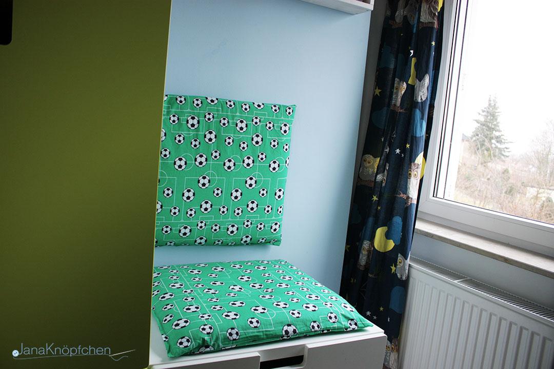 DIY Leseecke für Jungs Kinderzimmer Selbermachen. JanaKnöpfchen - Nähen für Jungs