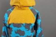 Rückwärtige Passe am selbstgenähten Hoodie für #12ausdemstoffregal. JanaKnöpfchen - Nähen für Jungs