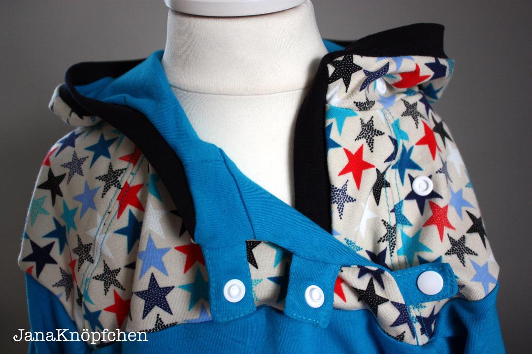 detail kragen hoodie für jungs. janaknöpfchen nähblog. nähen für jungs