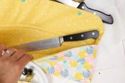 Innenseite der selbstgenähten Messertasche. JanaKnöpfchen - Nähen für Jungs