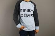 Applikation Minecraft auf Shirt nähen.  JanaKnöpfchen - Nähen für Jungs