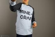 Minecraft-Shirt nähen als Raglanshirt.  JanaKnöpfchen - Nähen für Jungs