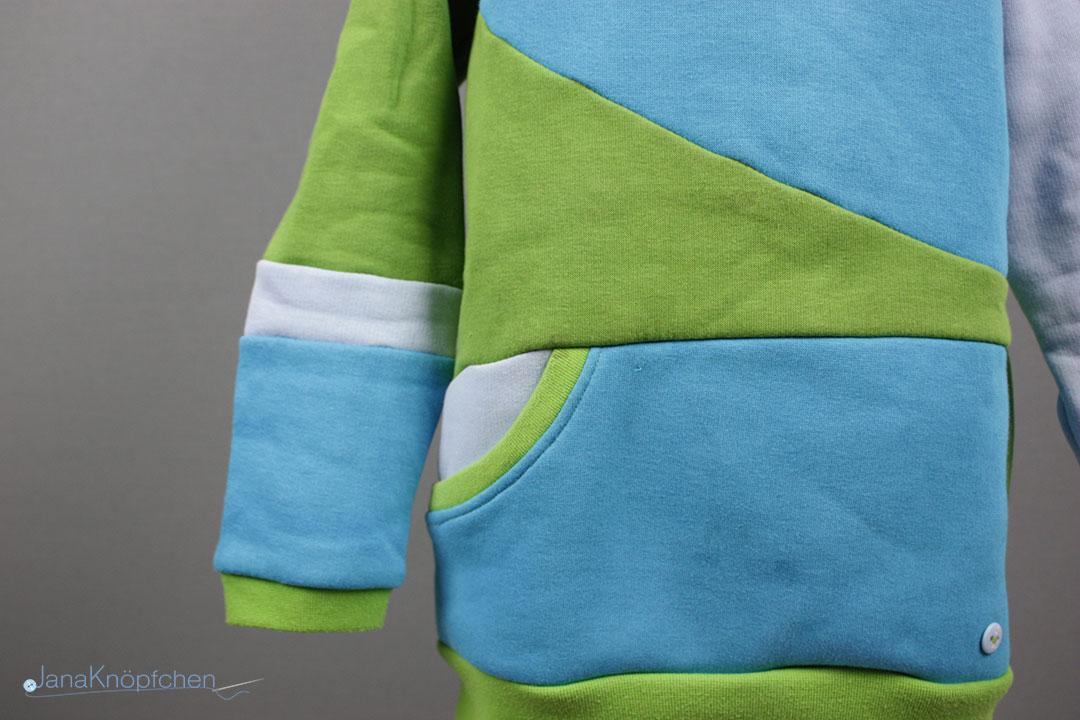 Hoodie mit Tasche nähen. Schnittmuster Miro von Worawo. JanaKnöpfchen - Nähen für Jungs
