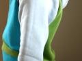 Tragebild des selbstgenähten Hoodies für Jungs. Schnittmuster Miro von Worawo. JanaKnöpfchen - Nähen für Jungs