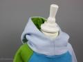 Detailansicht der Kapuze vom selbstgenähten Hoodie für Jungs.Schnittmuster Miro von Worawo. JanaKnöpfchen - Nähen für Jungs