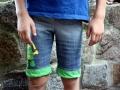 motti shorts ninjago applikation mit Cole .janaknoepfchen. nähen fürjungs