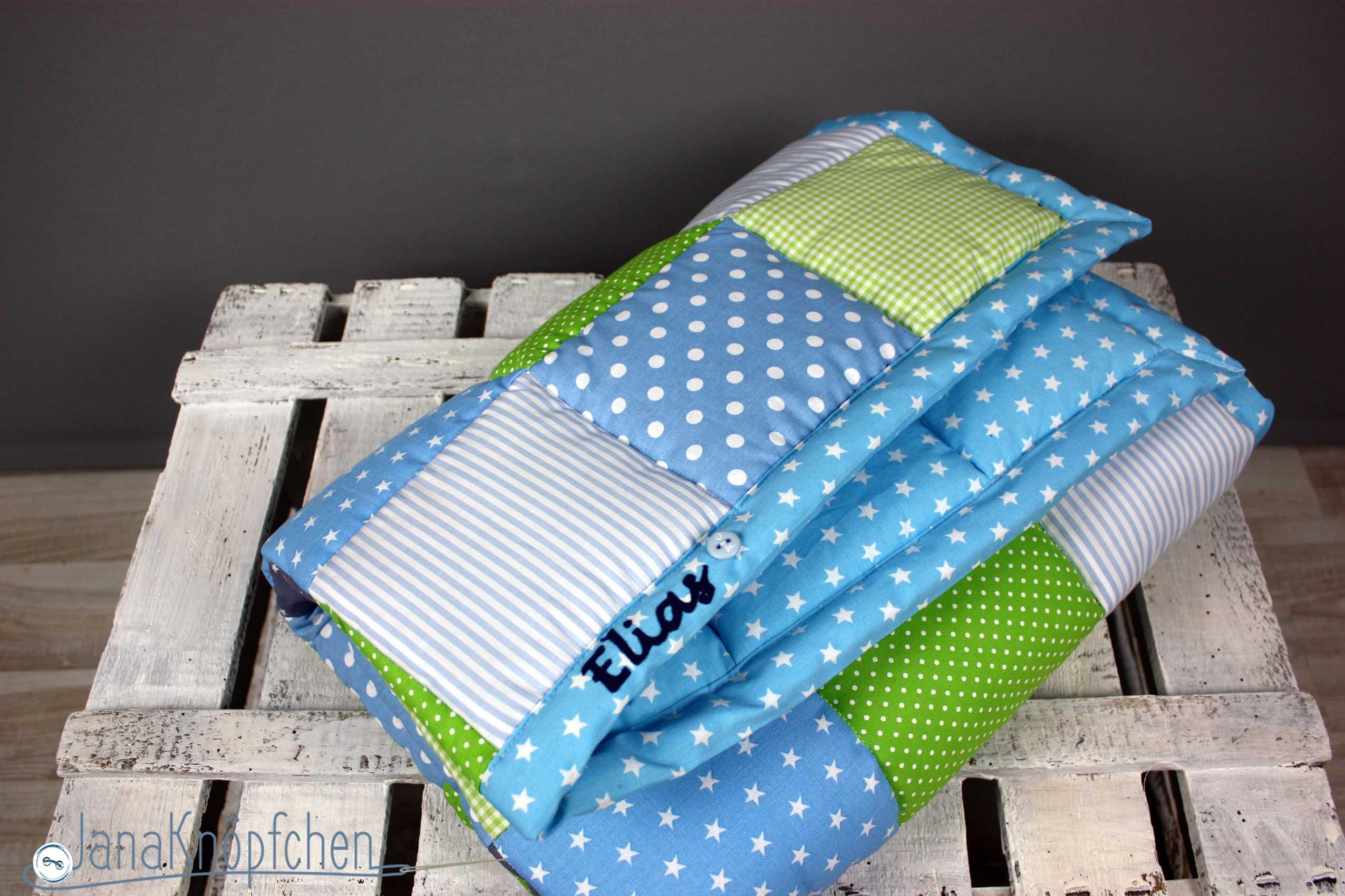geschenk zum ersten geburtstag eine patchworkdecke n hen. Black Bedroom Furniture Sets. Home Design Ideas