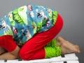 Langer selbstgenähter Schlafanzug für den Winter.  JanaKnöpfchen - Nähen für Jungs