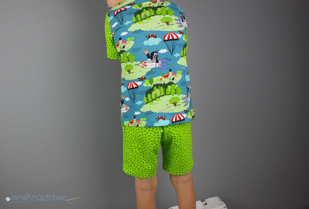 Kurzen Schlafanzug nähen für Jungs aus Paulistoff. JanaKnöpfchen - Nähen für Jungs