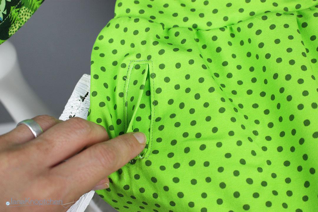 Paspeltasche an einer Schlafanzughose. JanaKnöpfchen - Nähen für Jungs