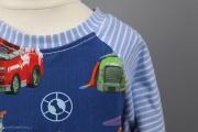 Halsausschnitt des selbstgenähten Paw Patrol Shirts. JanaKnöpfchen - Nähen für Jungs