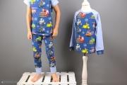 Selbstgenähter Schlafanzug lang für Jungs. JanaKnöpfchen - Nähen für Jungs