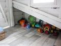 Spielzeugecke im selbstgebauten Baumhaus.  JanaKnöpfchen - Nähen für Jungs