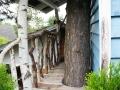 Selbstgebautes Baumhaus mit Terrasse.  JanaKnöpfchen - Nähen für Jungs
