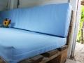 Selbstgenähte Sitzbezüge für das Palettensofa im Baumhaus.  JanaKnöpfchen - Nähen für Jungs