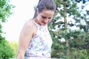 Sommerkleid mit Blümchen selbstgenäht. JanaKnöpfchen - Nähen für Jungs