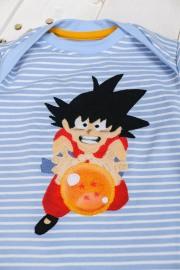 Detail der Son Goku Applikation. JanaKnöpfchen - Nähen für Jungs