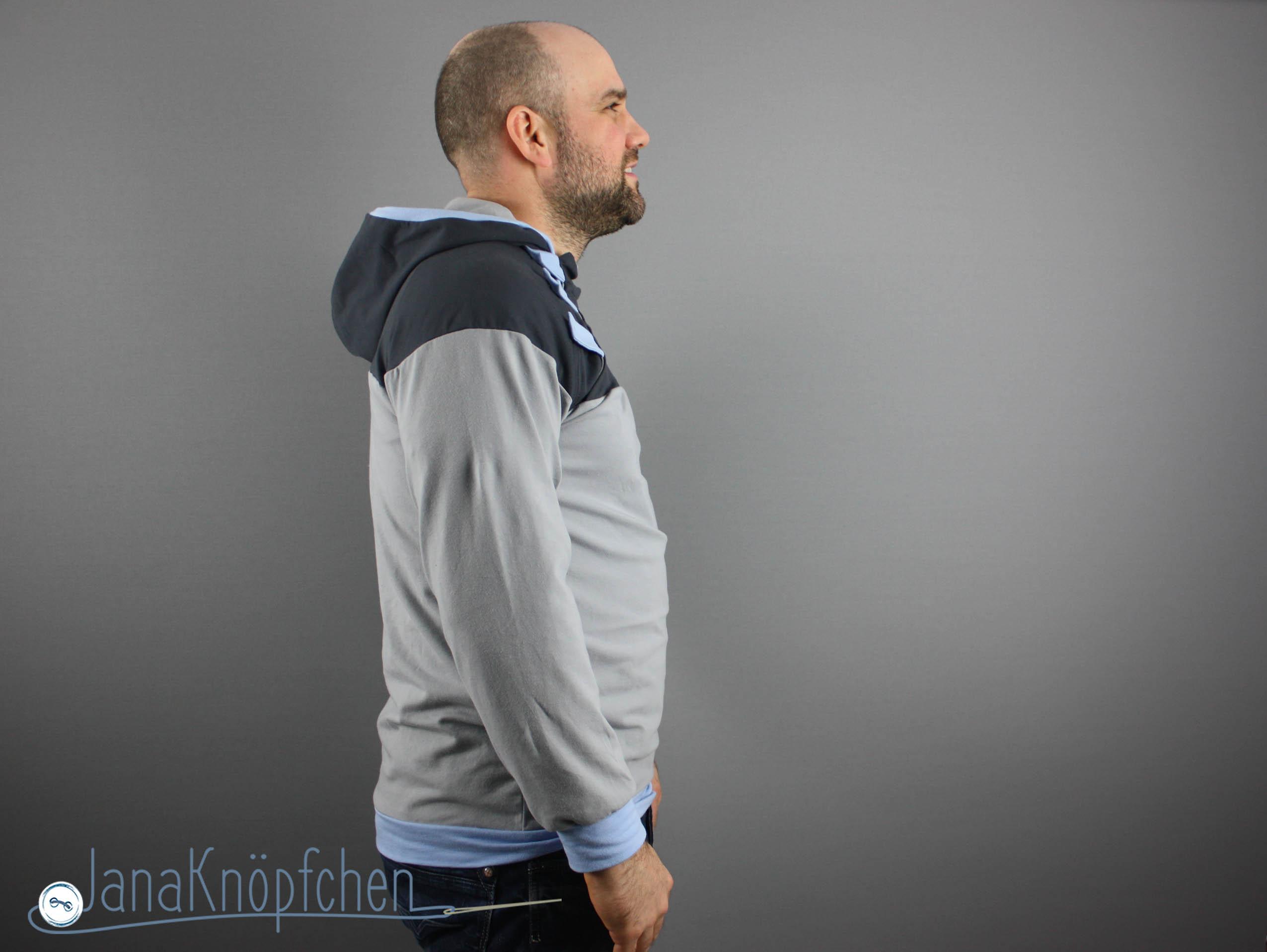 Hoodie Letz Knöpf für Männer nähen. JanaKnöpfchen. Nähen für Jungs - Nähblog