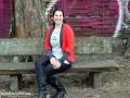 mycuddelme cardigan von schaumzucker in rot. janaknöpfchen - nähblog. nähen für jungs
