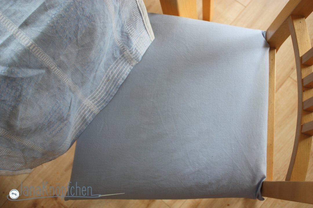 Stuhlbezug selbstgenäht. janaknöpfchen.nähblog - nähen für jungs