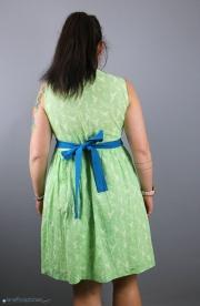 Tunikakleid mit Schleife im Rücken genäht. JanaKnöpfchen - Nähen für Jungs